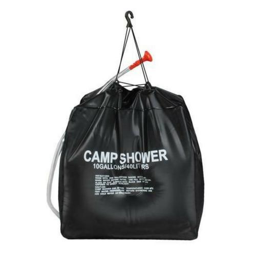 camping douche zak vooraanzicht