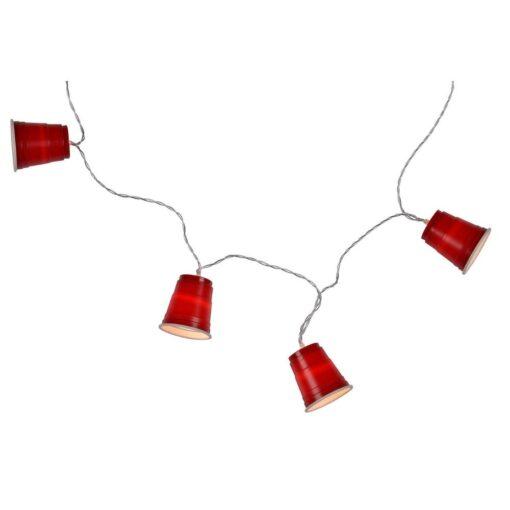 Lichtsnoer Buiten Mini Red Cups vooraanzicht